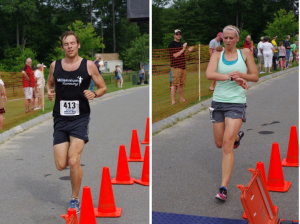 2013 Bobcat Bolt 5K winners Tyler Dinnan and Sarah Canney.