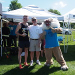 Aliakrand Leuchanka 2015 Men's OVerall Winner with Steve Hardy and The Bobcat